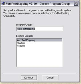 AutoPortMapping - Which program group?