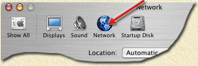 "Macintosh - Let's go to the ""Network"" settings"