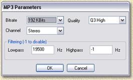 DVD Audio Ripper - MP3 settings