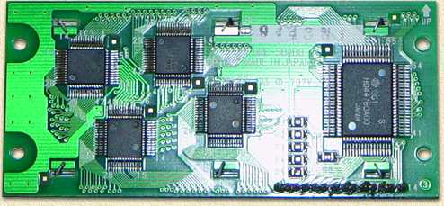 The PCB from the telephone LCD display