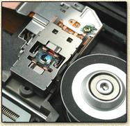 The read/write laser and sensor of a CD recorder