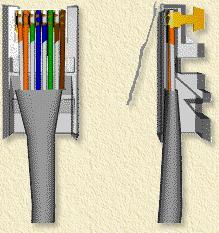 Schuif de kabel zo ver mogelijk in de je RJ45 stekker