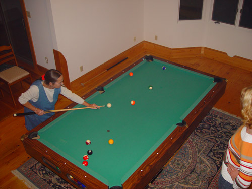 if you have a pool table, people come by and play. Notice the sigar !